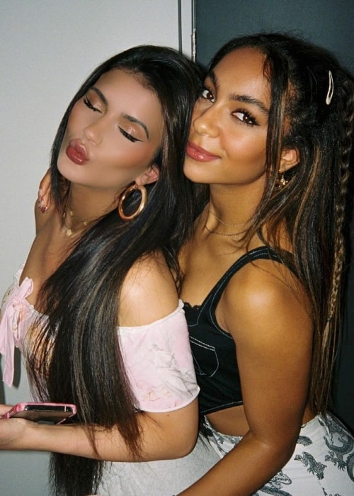 Charlize Glass as seen in a picture with fellow dancer and social media star Ava Tortorici in May 2021