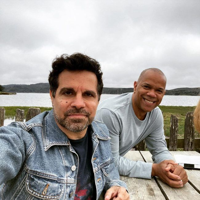 Mario Cantone and Jerry Dixon as seen together in June 2021