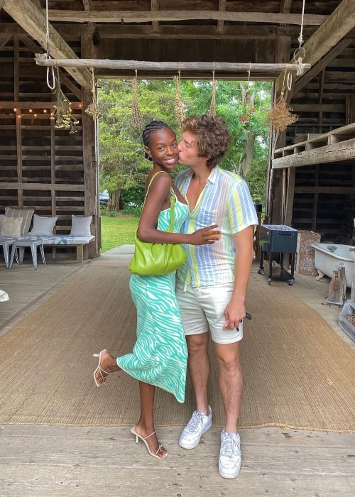 Nanga Awasum as seen in a picture that was taken with her boyfriend Sourbis at Croteaux Vineyards in July 2021