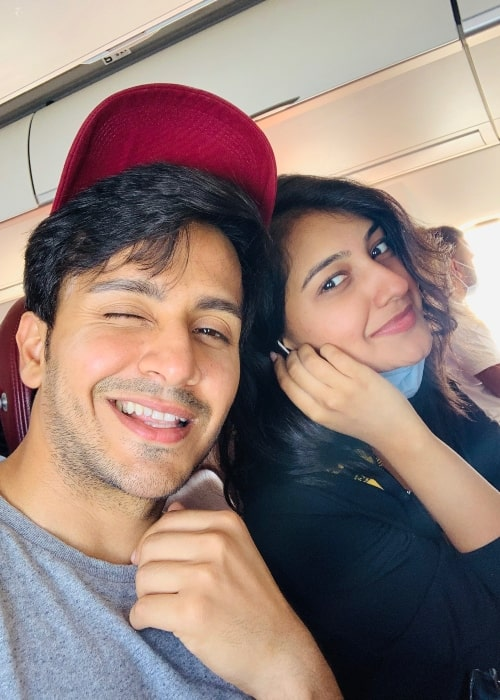 Param Singh as seen in a selfie with his co-star Akshita Mudgal in July 2021
