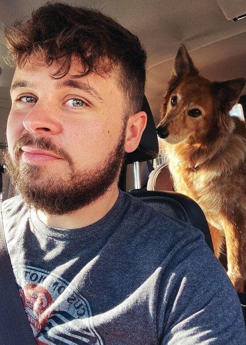 Bryan Lanning as seen in a selfie with his dog that was taken in February 2021