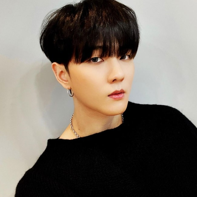Donghyuk as seen in a picture that was taken in March 2021
