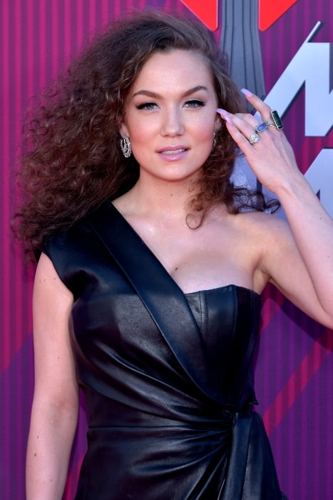 Jude Demorest at the 2019 iHeartRadio Music Awards in Los Angeles, California on March 14, 2019