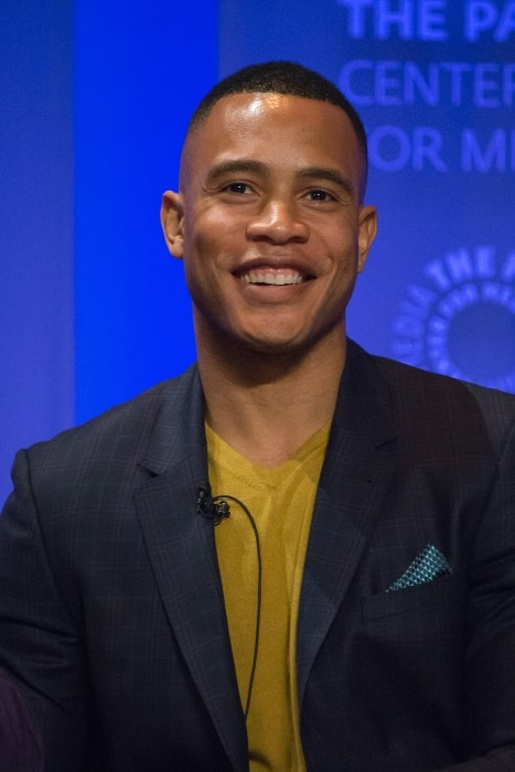 Trai Byers at the 2016 PaleyFest presentation in Los Angeles for the TV show 'Empire'