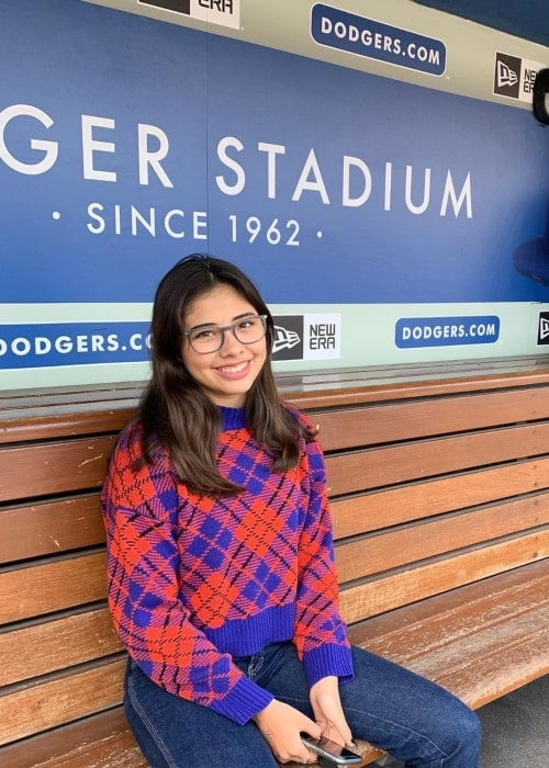 Xochitl Gomez as seen in a picture that was taken at the Dodger Stadium in November 2019
