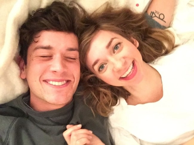 Mike Castle as seen while smiling in a selfie with Lauren Lapkus