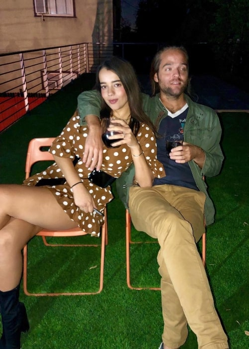 Jack Lawless as seen in a picture that was taken in November 2018 with his wife Helena Bastos Lawless