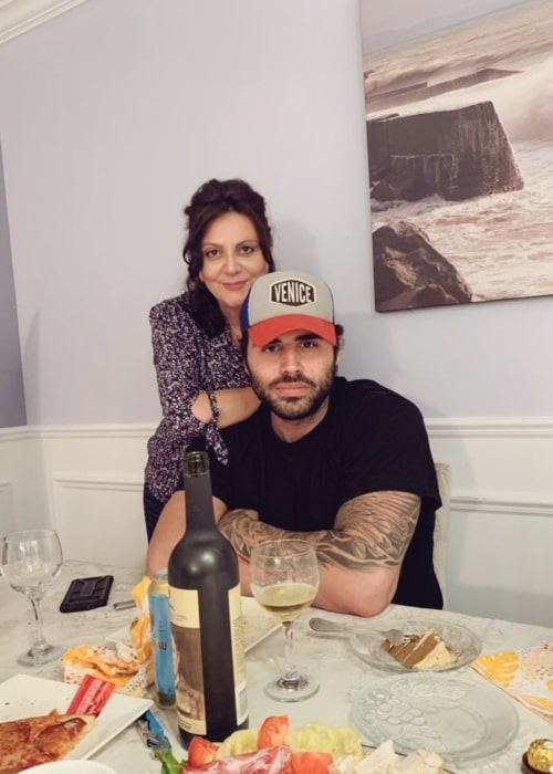 Jon Zherka as seen in a picture with his mother that was taken in October 2020