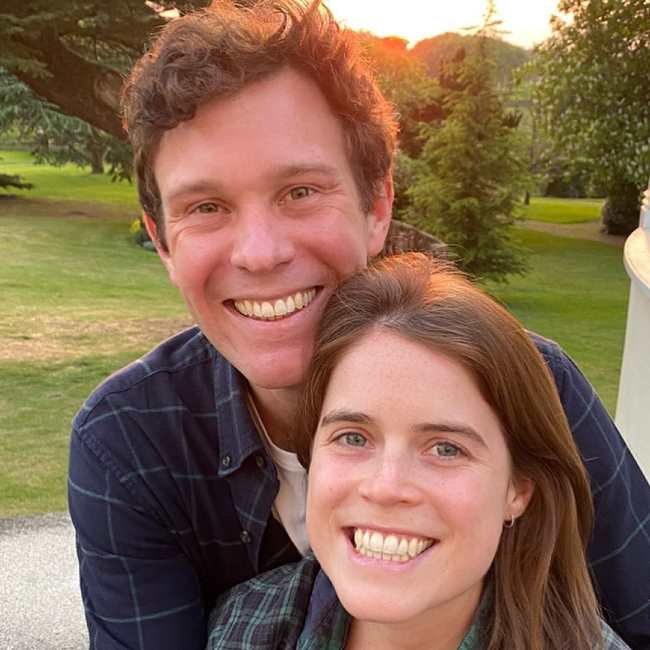 Jack Brooksbank and Princess Eugenie seen in 2020