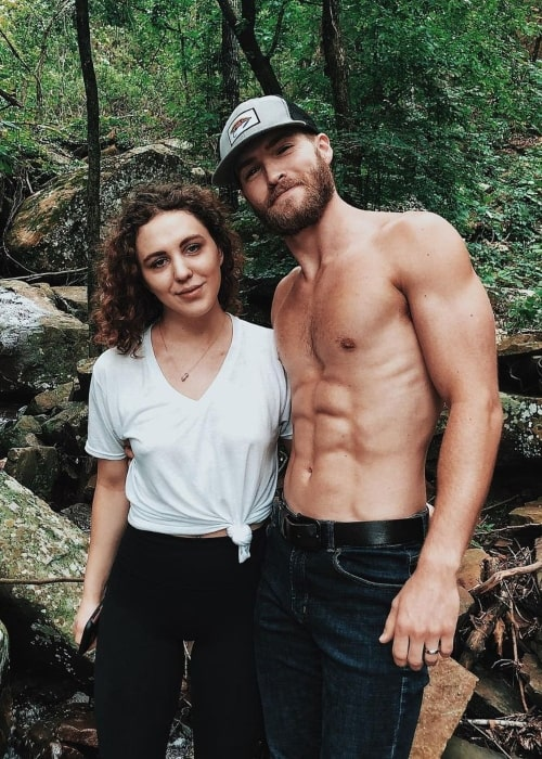 Patrick Johnson in a picture with his wife Taylor Green Johnson that was taken at the Russellville Marina Boat Repair and Cabins in May 2019