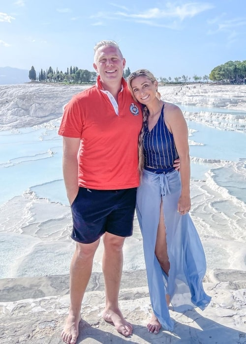 Khyl Shumway as seen in a picture that was taken with his wife Michelle Shumway in Pamukkale, Turkey, in May 2021