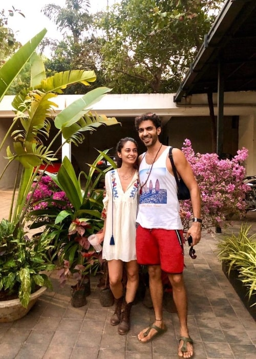 Ayesha Khanna as seen in a picture with her beau Assagao, Goa, India in March 2021