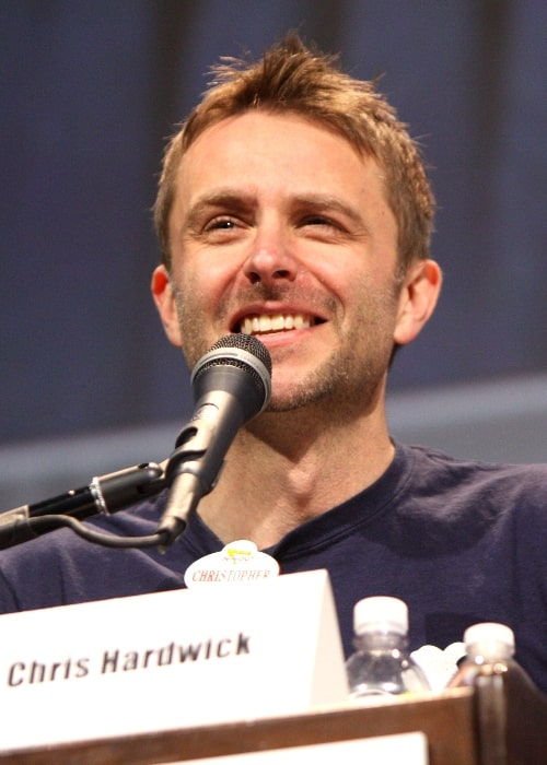 Chris Hardwick as seen while speaking at the 2013 WonderCon in Anaheim, California on March 31, 2013