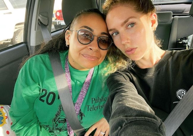 Miranda Pearman-Maday (right) seen with her wife Raven Symoné in 2021