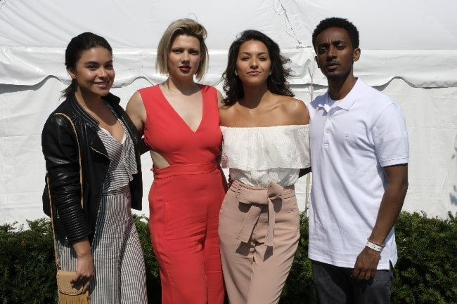 From Left to Right - Kawennáhere Devery Jacobs, D.W. Waterson, Humberly Gonzalez, and Nabil Rajo at the 2017 CFC Annual BBQ Fundraiser