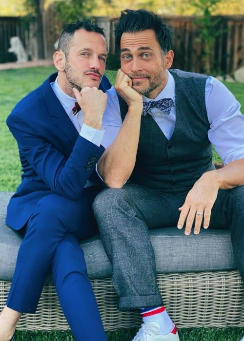 Jason Landau as seen in a picture with his beau Cheyenne Jackson that was taken in March 2021