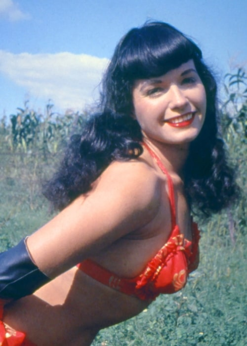 Bettie Page smiling for the camera