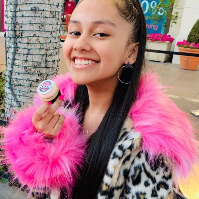 Isabella Leon as seen in a picture that was taken at The Grove in November 2019