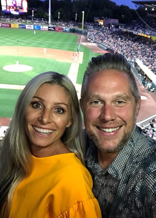 Khyl Shumway as seen in a selfie that was taken with his wife Michelle at the Smith's Ballpark in June 2018