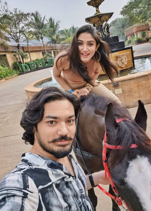 Donal Bisht as seen in a selfie that was taken with her brother Ranjan Bisht in June 2021