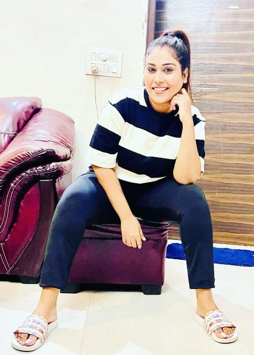 Afsana Khan in Chandigarh, India in September 2021