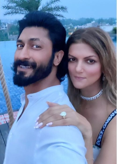 Nandita Mahtani and Vidyut Jammwal seen after their engagement in September 2021