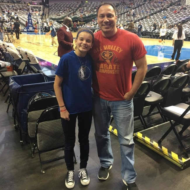 Steve Carbone as seen in a picture that was taken with his neice Olivia in January 2017