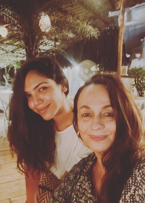 Soni Razdan as seen in a selfie that was taken in August 2021, with actress and director Shriya Pilgaonkar