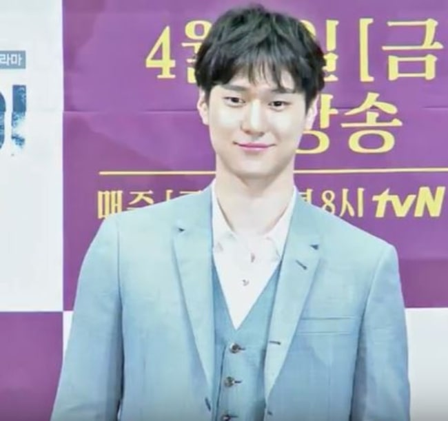 Go Kyung-pyo as seen at the press conference of the drama 'Chicago Typewriter' in April 2017
