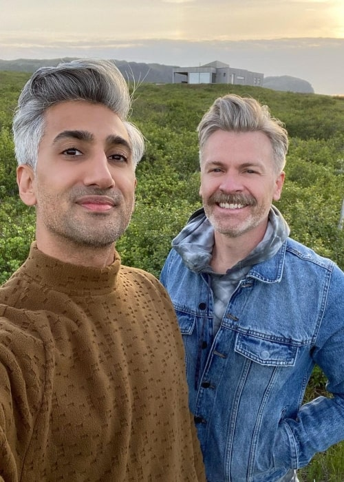 Tan France and Rob France in a selfie that was taken in Iceland in July 2021