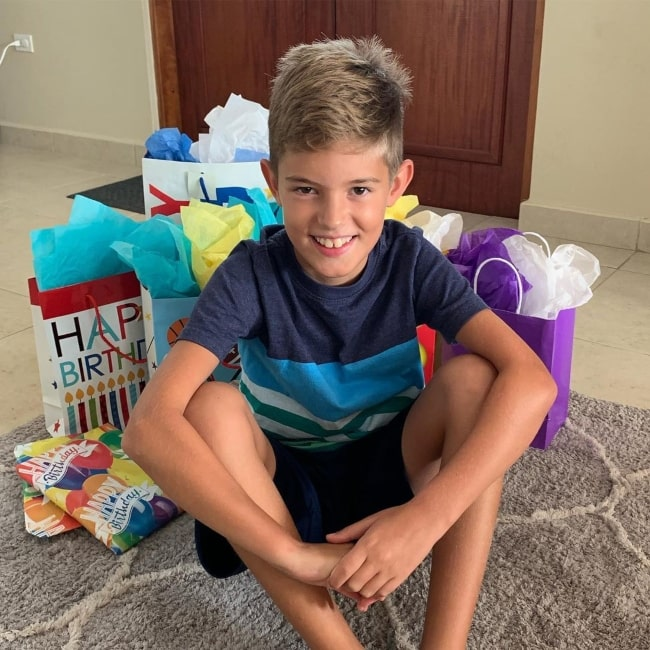 Isaac Johnston as seen in a picture that was taken on the day of his birthday in August 2019