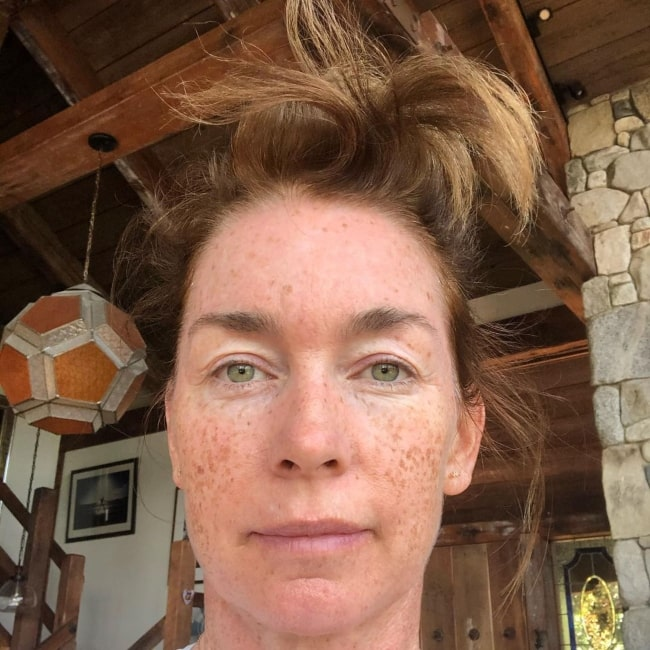 Julianne Nicholson in August 2020 stating that she knows her hair looks like that only when someone informs her