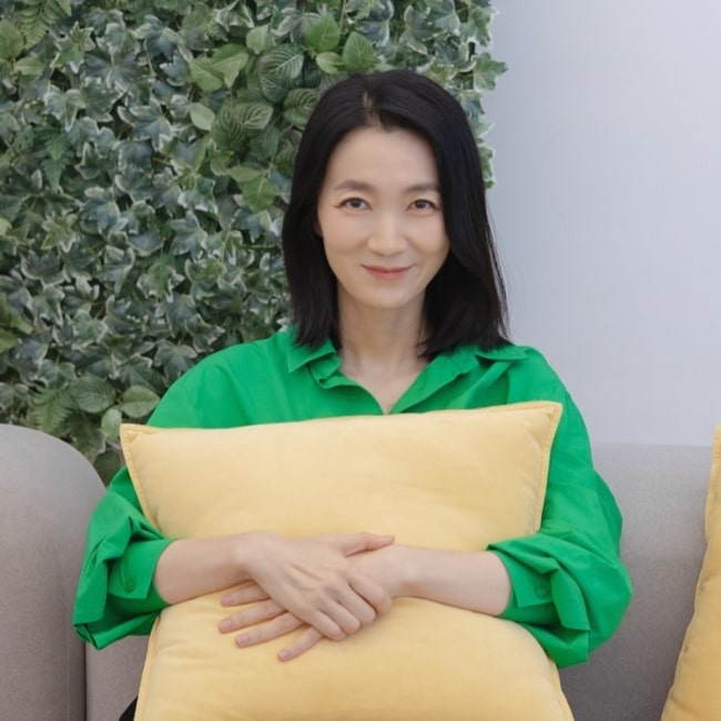 Kim Joo-ryoung smiling for the camera in October 2021